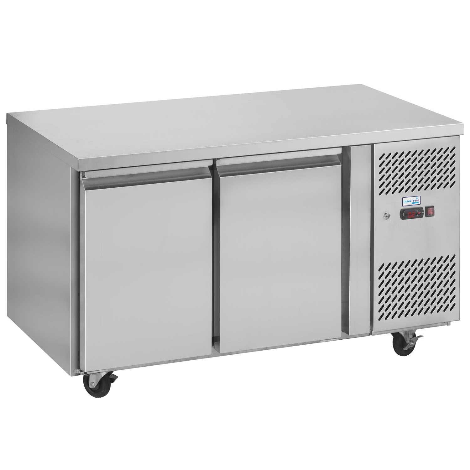 Interlevin PH20 Gastronorm Stainless Steel Counter 2-Door Chiller closed