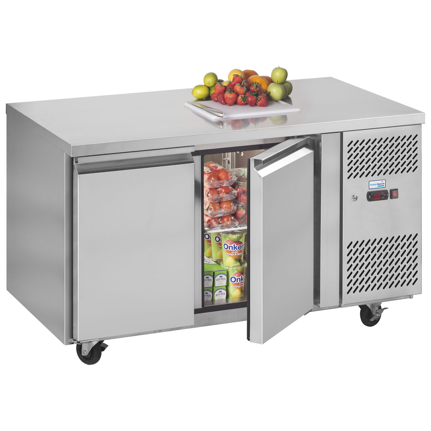Interlevin PH20 Gastronorm Stainless Steel Counter 2-Door Chiller stocked