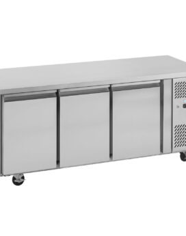 Interlevin PH30 Gastronorm Stainless Steel Counter 3-Door Chiller closed