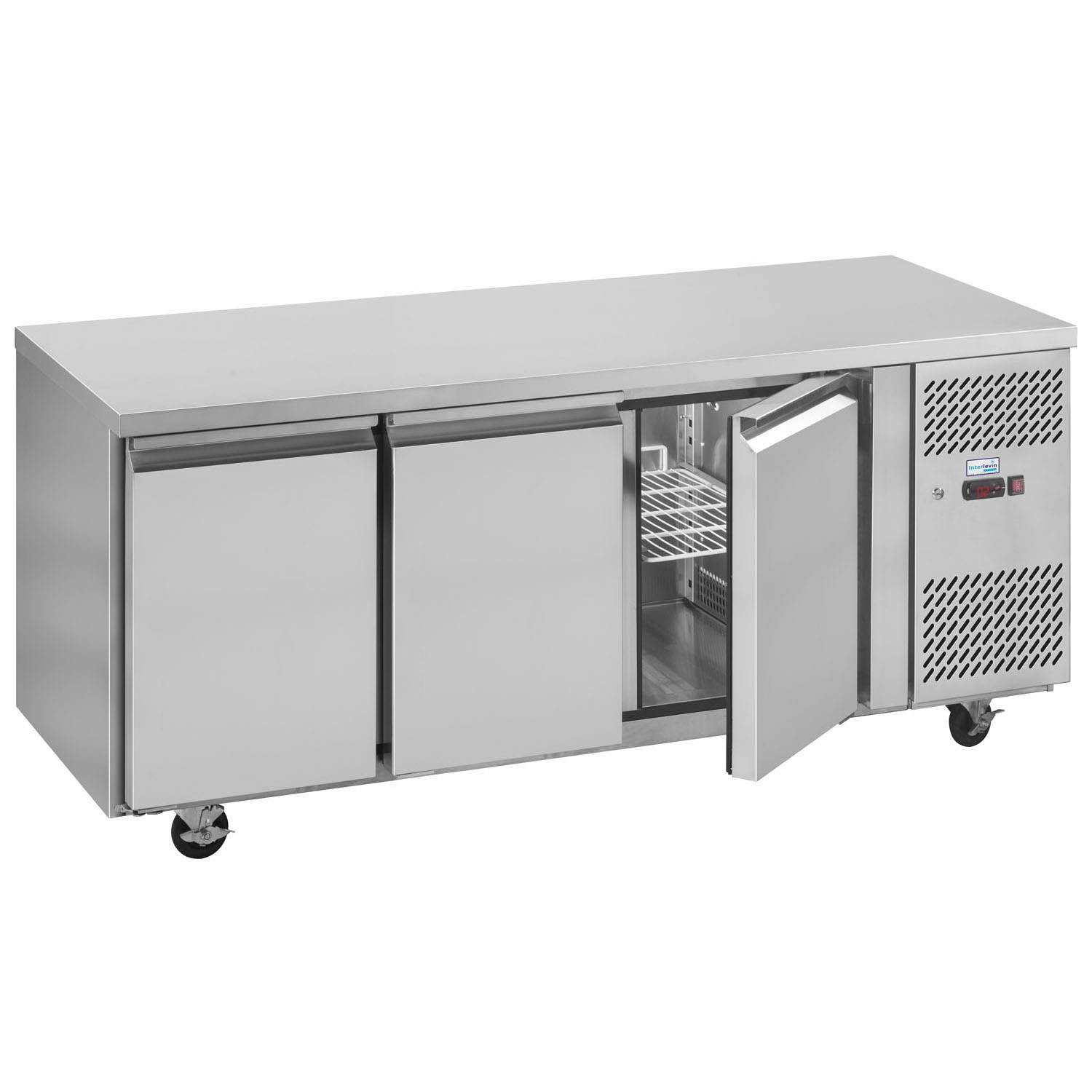 Interlevin PH30 Gastronorm Stainless Steel Counter 3-Door Chiller