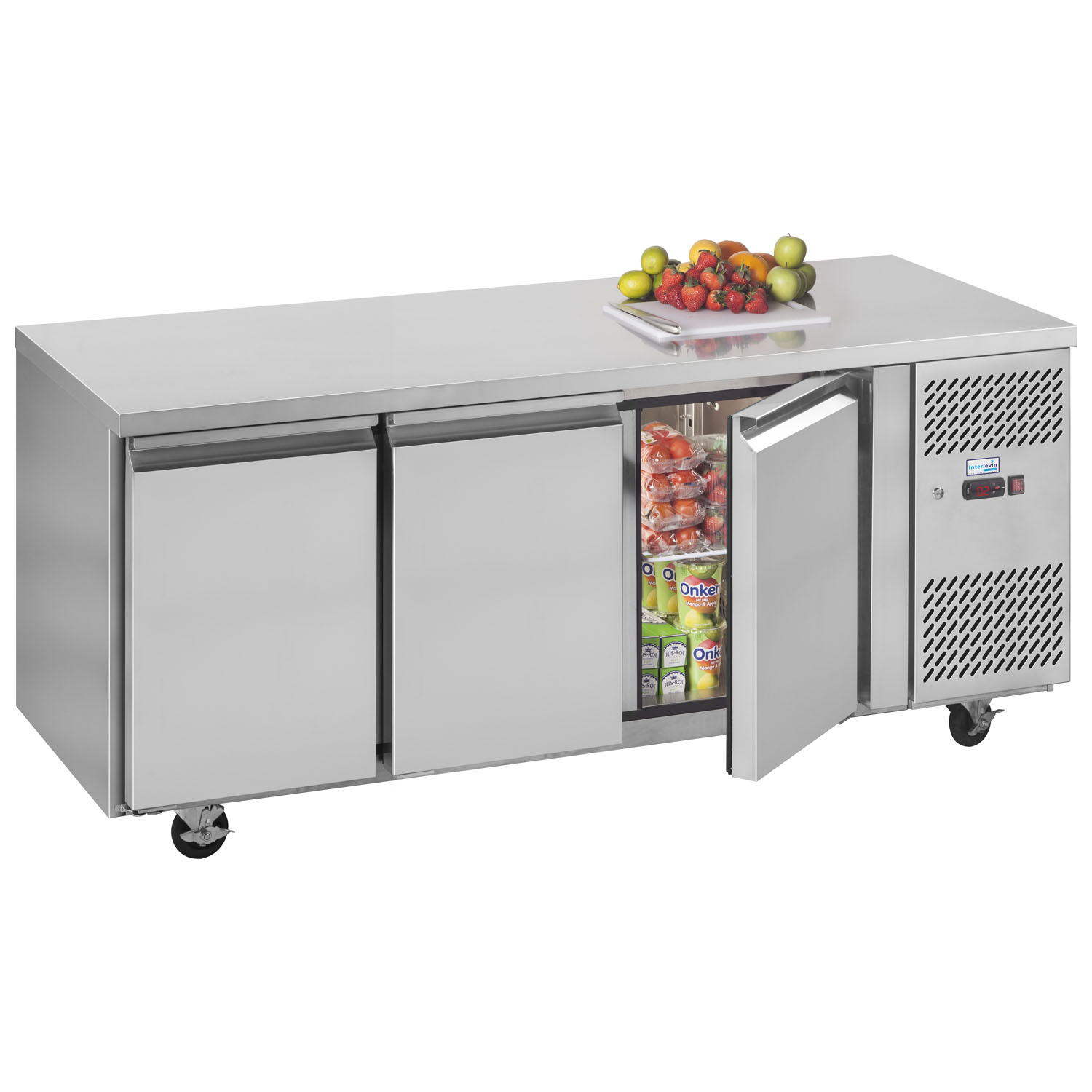 Interlevin PH30 Gastronorm Stainless Steel Counter 3-Door Chiller stocked