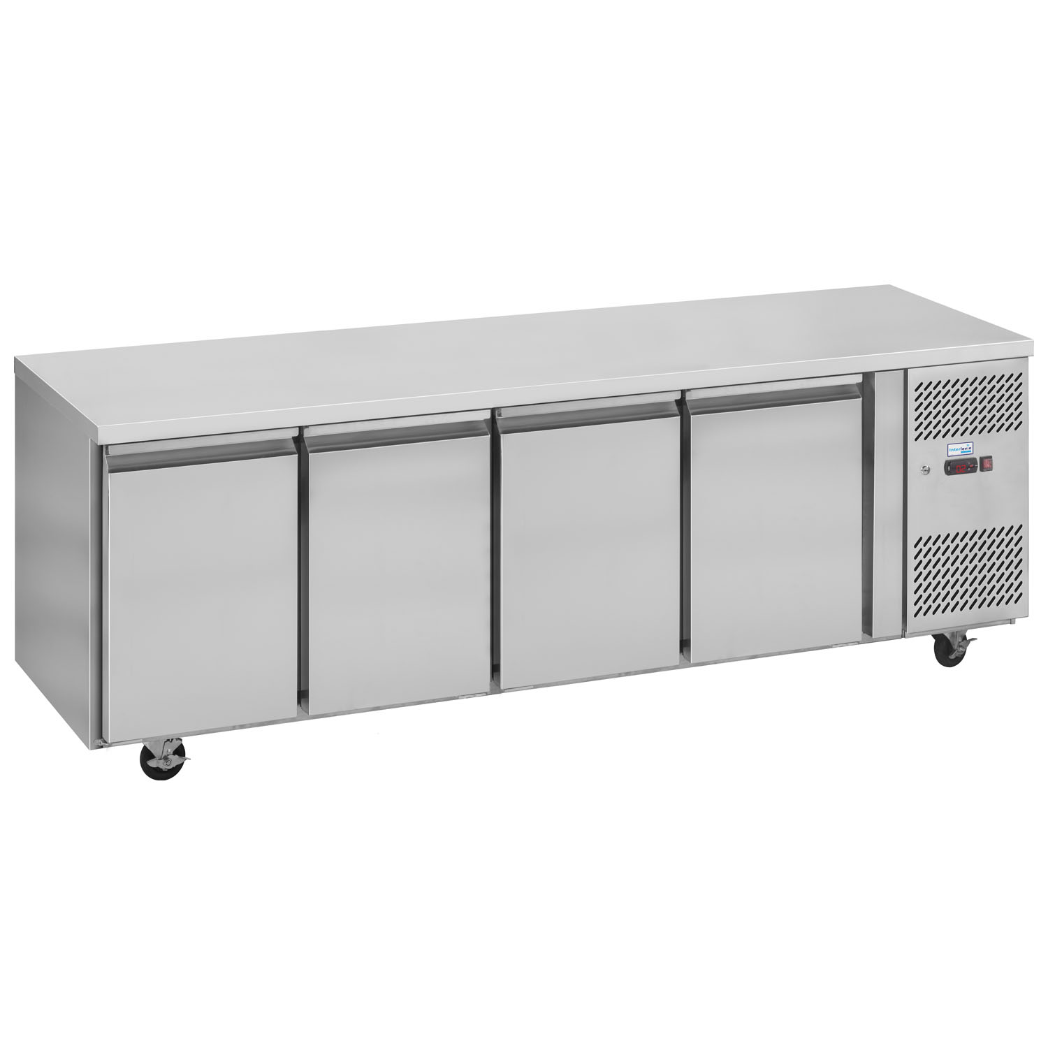 Interlevin PH40 Gastronorm Stainless Steel Counter 4-Door Chiller closed