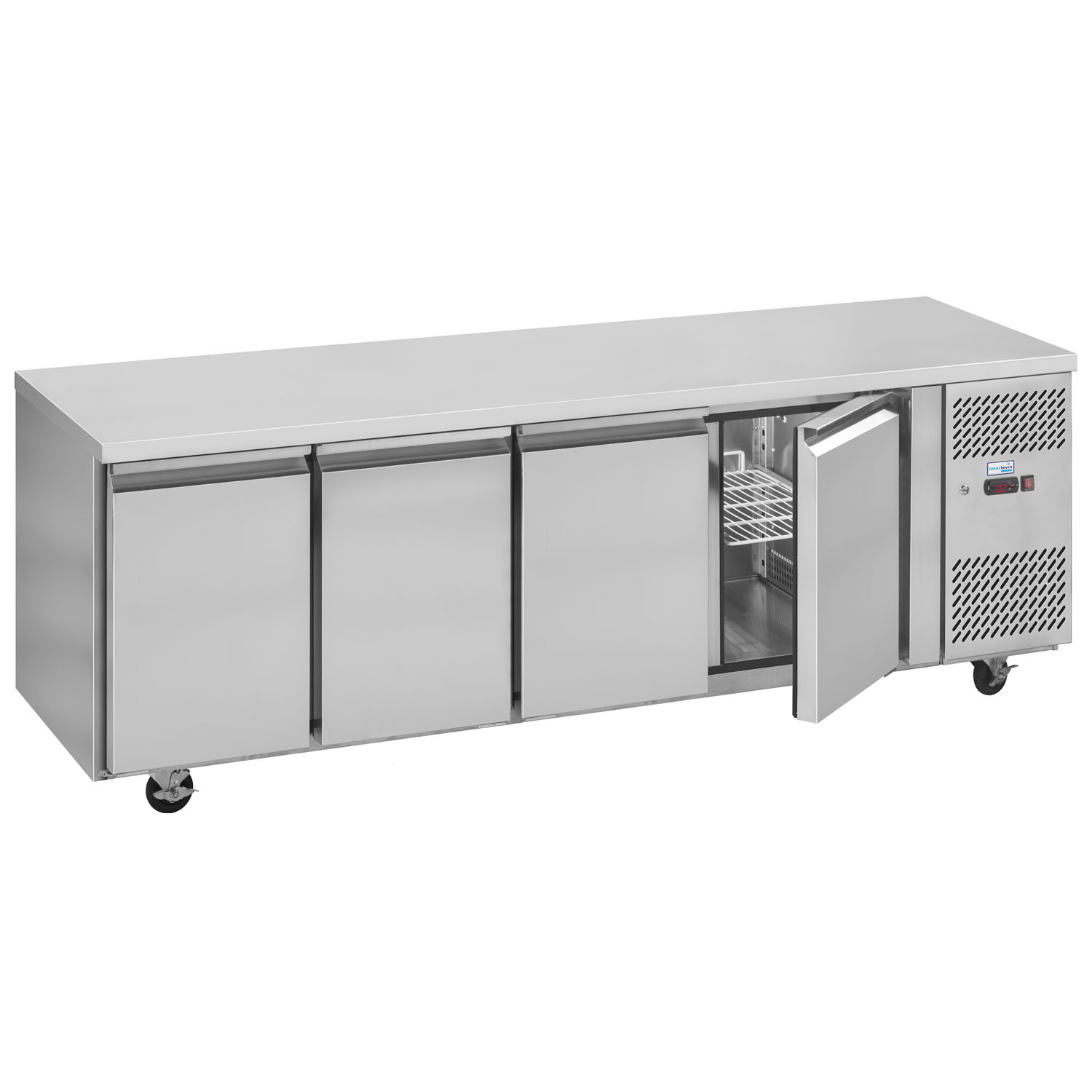 Interlevin PH40 Gastronorm Stainless Steel Counter 4-Door Chiller