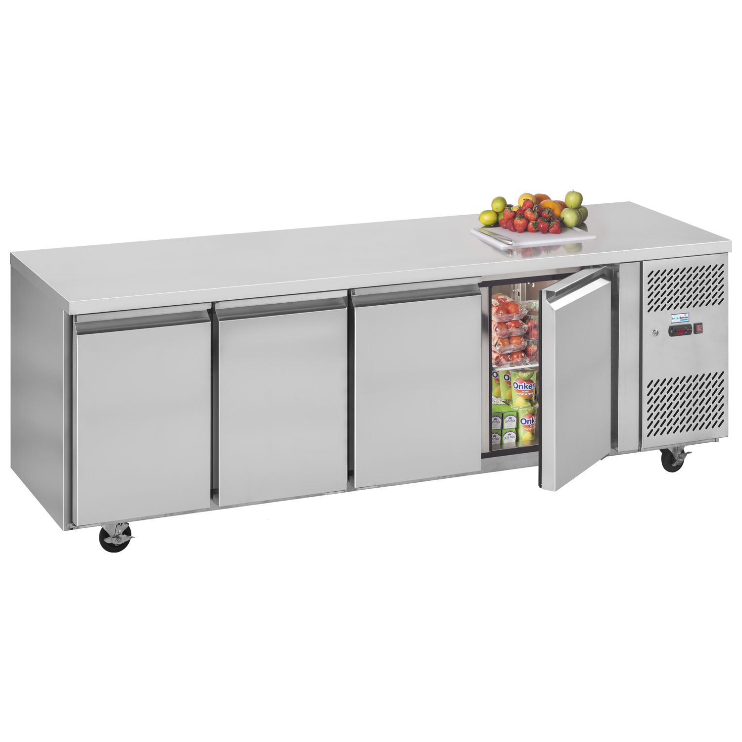 Interlevin PH40 Gastronorm Stainless Steel Counter 4-Door Chiller stocked