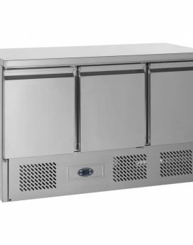 Tefcold SA1365B Gastronorm Stainless Steel Counter 3-Door Chiller