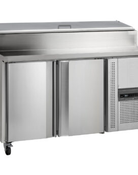 Tefcold SS7200P Gastronorm Stainless Steel Preparation 2-Door Counter Chiller