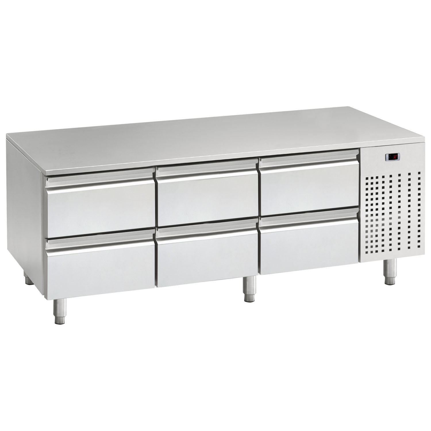Mercatus U1-1600 Low Height Gastronorm Stainless Steel Counter Chiller