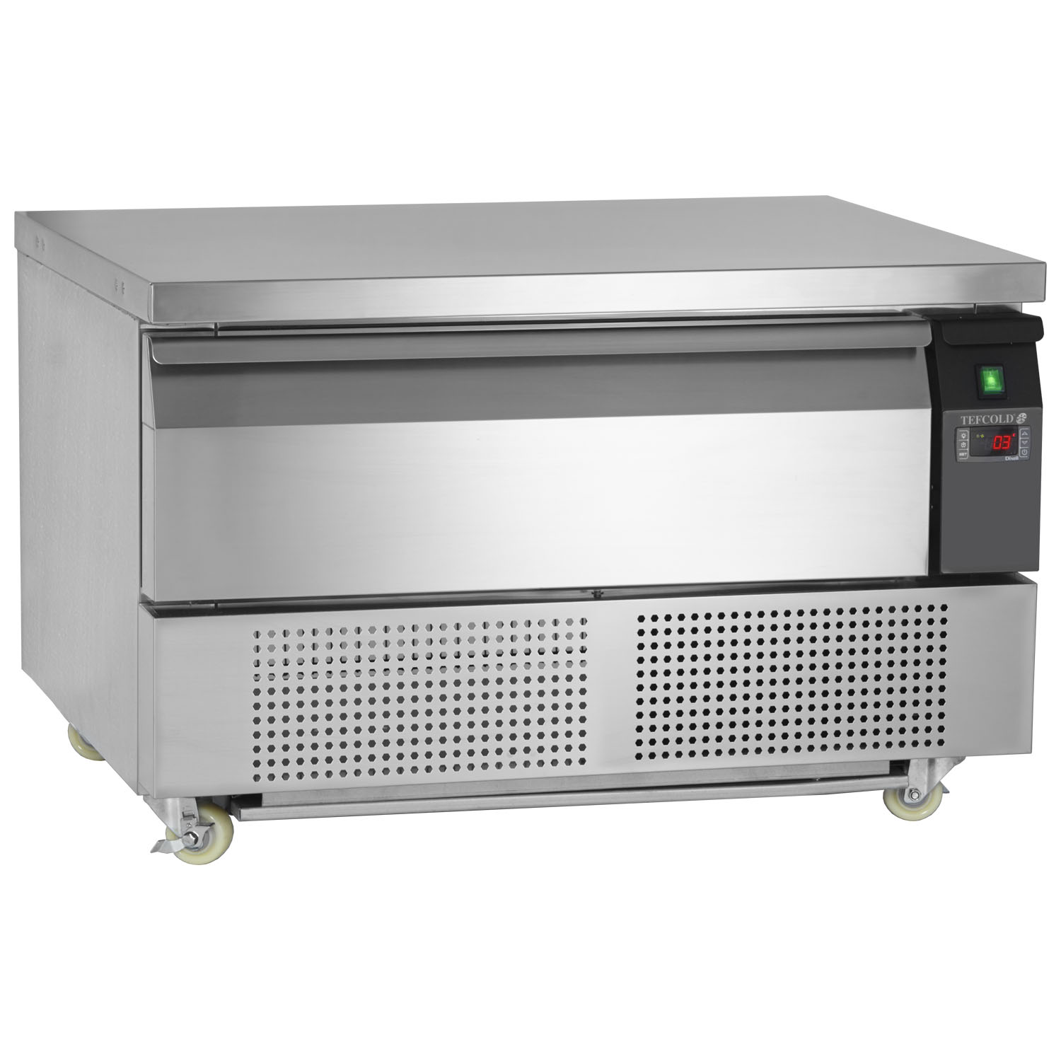 Tefcold Uni-Drawer UD1-2 Dual Temperature Gastronorm Stainless Steel Counter