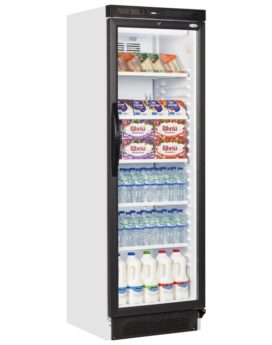 Levin SC381B Glass Door Refrigerator