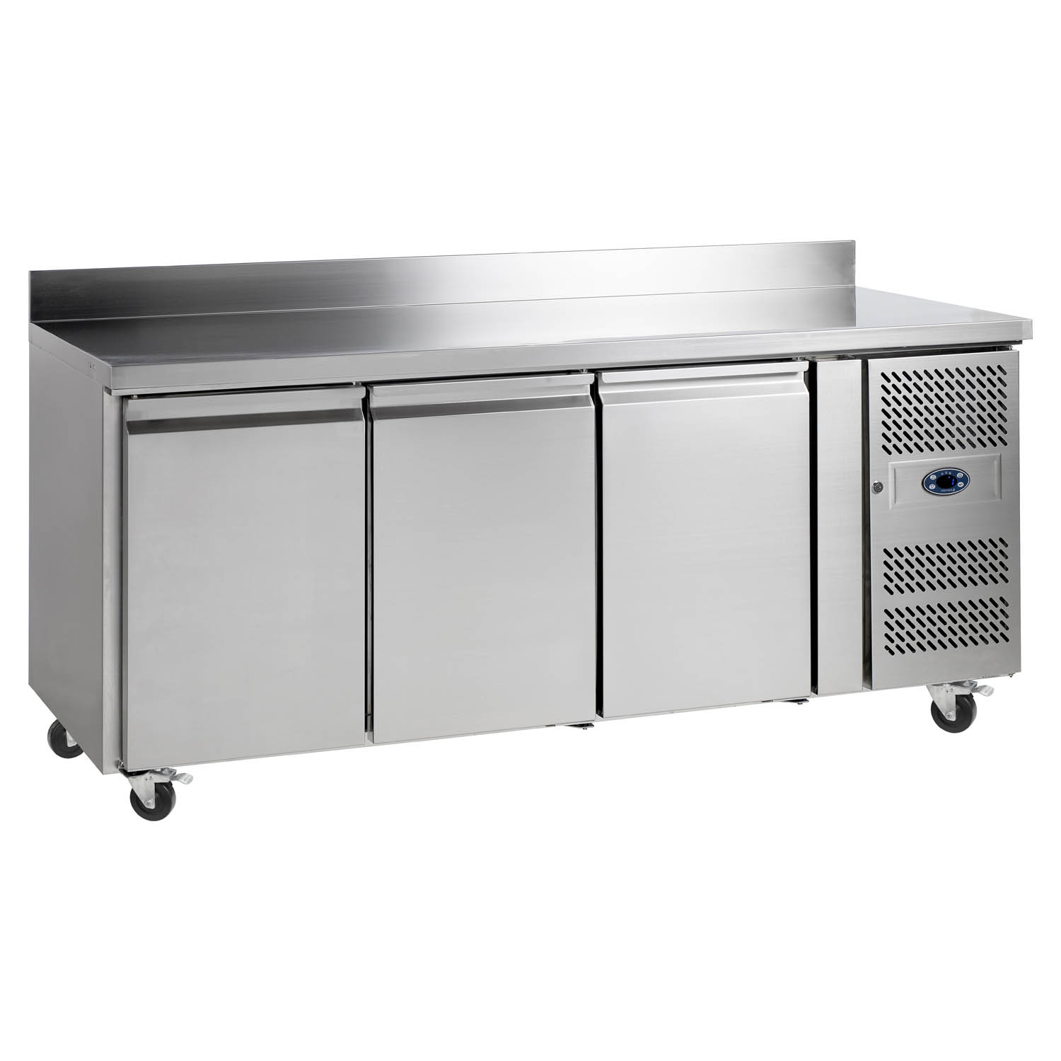 Tefcold CK7310B SS Gastronorm Counter 3-Door Chiller with Splashback