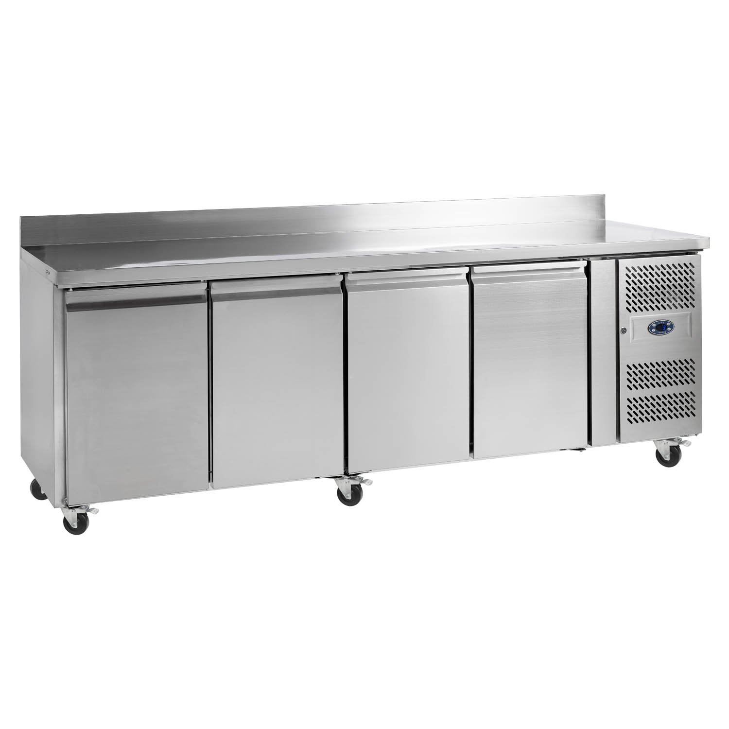 Tefcold CK7410B SS Gastronorm Counter 4-Door Chiller with Splashback
