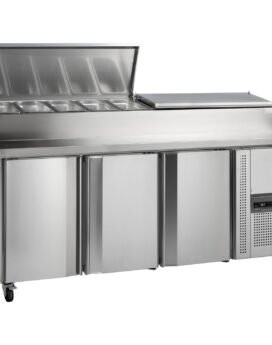 Tefcold SS7300P Gastronorm Stainless Steel Preparation 3-Door Counter Chiller