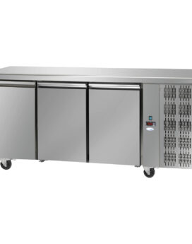 Interlevin Italia TF03 SS Gastronorm 3-Door Stainless Steel Counter Chiller