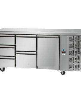 Interlevin Italia TF03 SS Gastronorm 3-Door Stainless Steel Counter Chiller opt