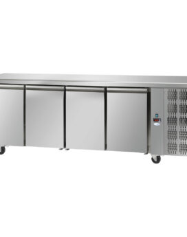 Interlevin Italia TF04 SS Gastronorm 4-Door Stainless Steel Counter Chiller