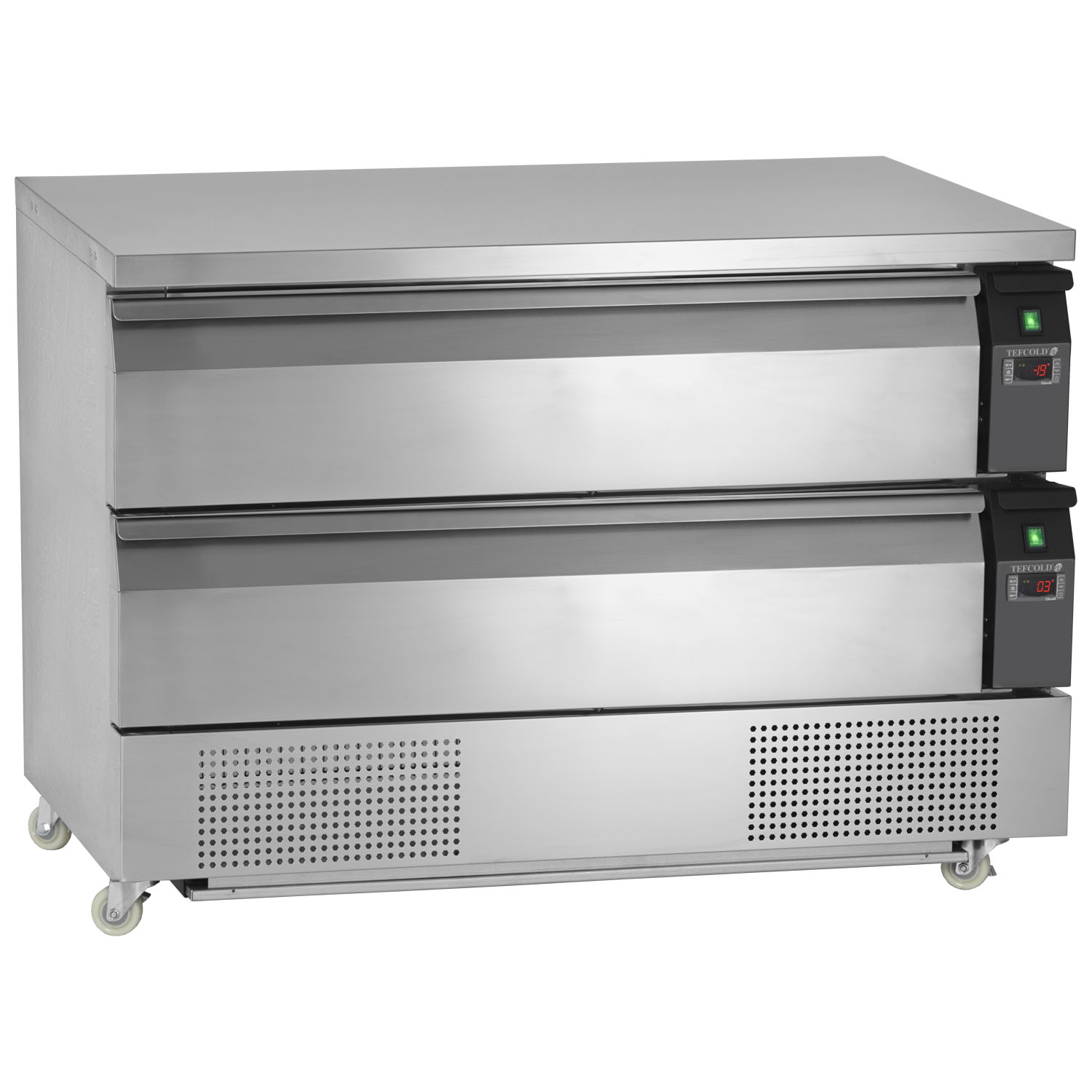 Tefcold Uni-Drawer UD2-3 Dual Temperature Gastronorm Stainless Steel Counter